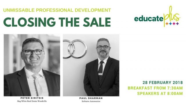 """PD """"Closing the Sale"""" – Wednesday 28 Feb"""