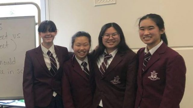 The inaugural debate competition for Year 7Fortians