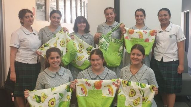 Year 9 students take up needle and thread to bring joy