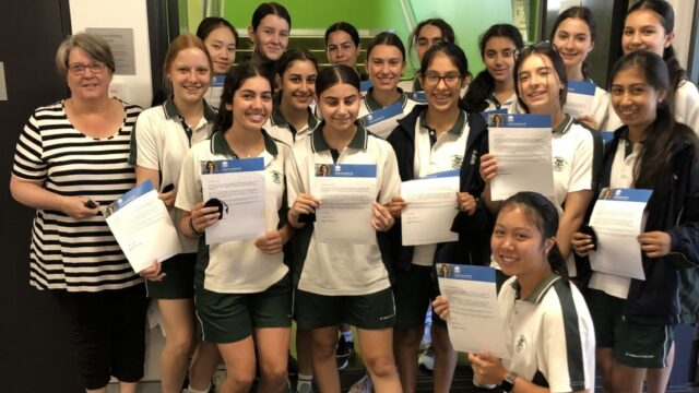 Year 9 students awarded Premiers Reading Challenge medals